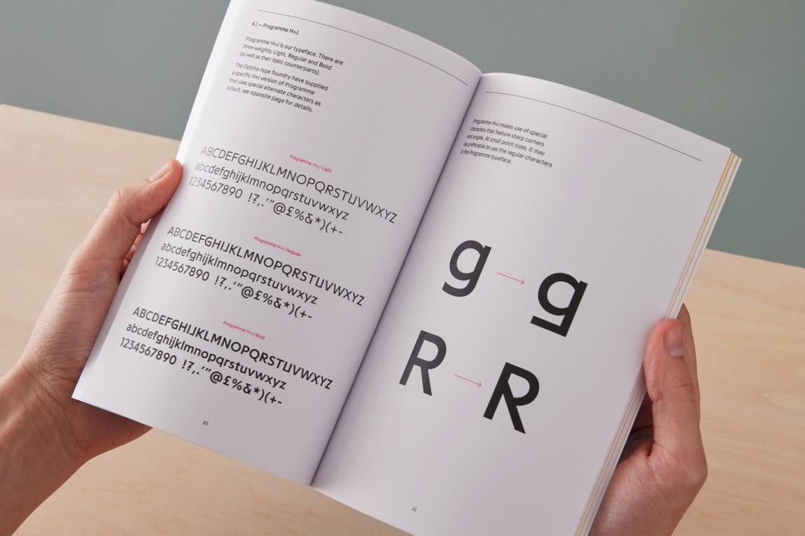 英国H+J餐饮企业餐厅品牌形象设计,VI设计手册,趣味与简约