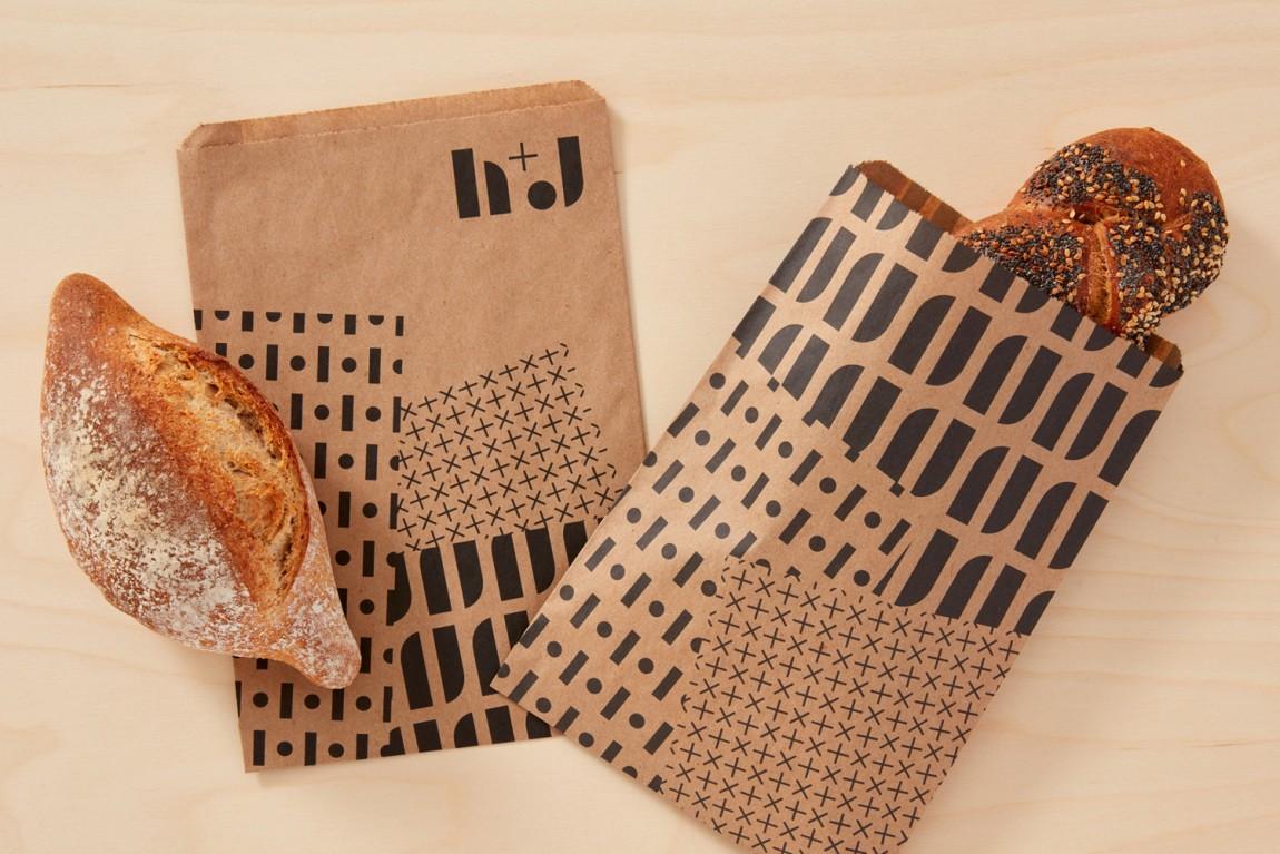 英国H+J餐饮企业餐厅品牌形象设计,VI设计,趣味与简约,食品包装设计