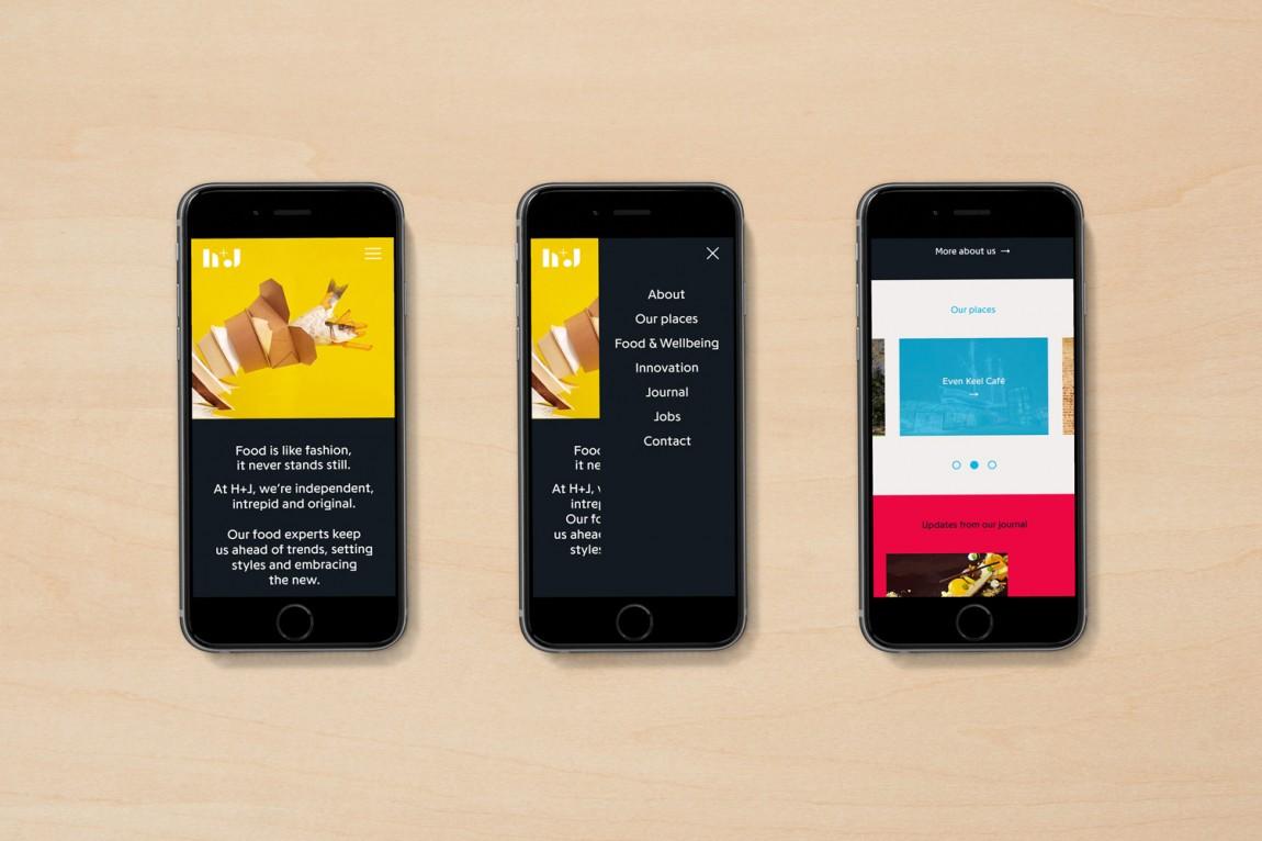 英国H+J餐饮企业餐厅品牌形象设计,VI设计,趣味与简约,公司网站设计