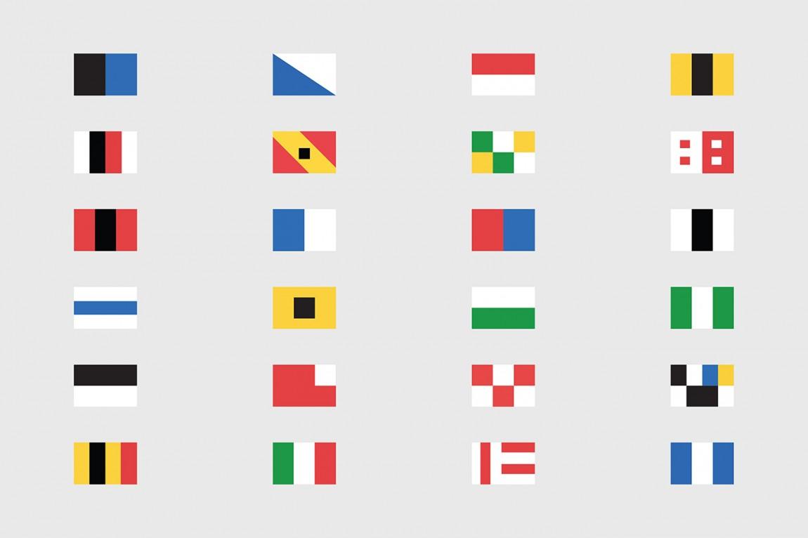 Helvetimart超市企业品牌形象vi设计, 旗帜图标设计