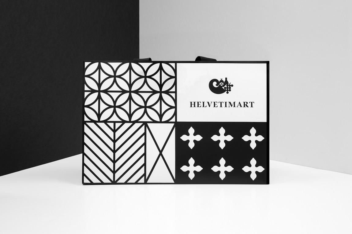 Helvetimart超市企业品牌形象vi设计,手提袋设计