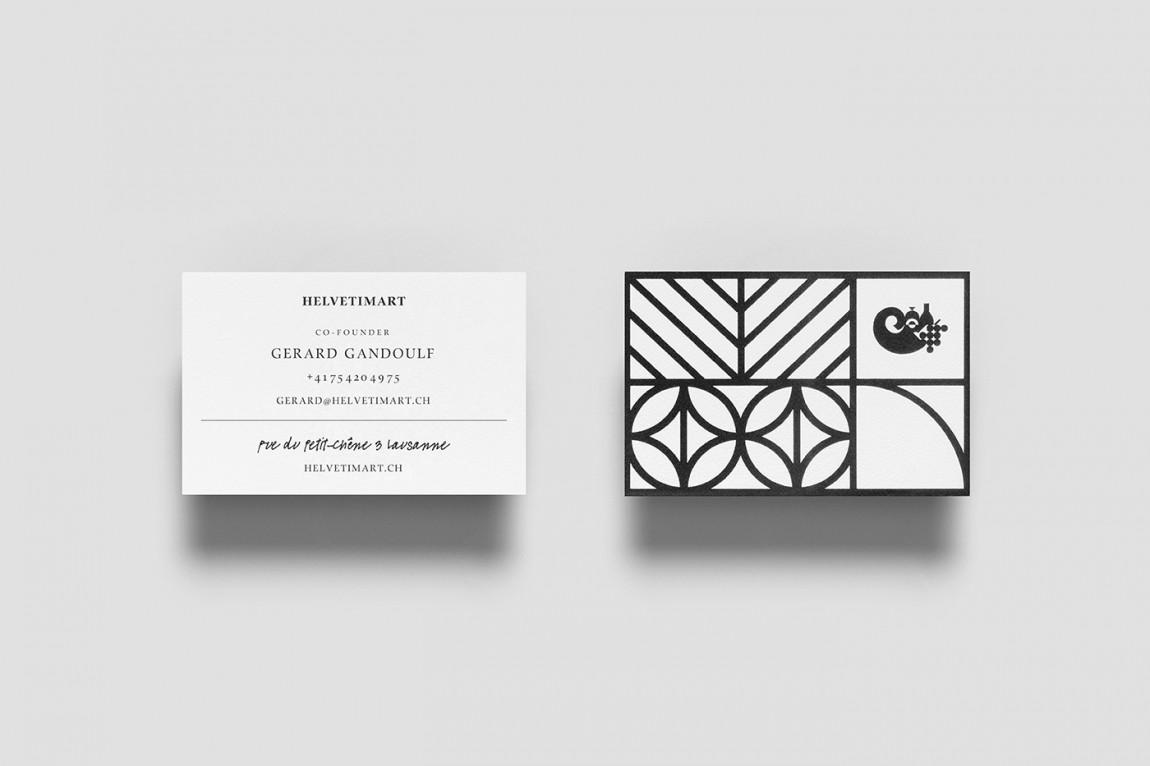Helvetimart超市企业品牌形象vi设计,名片设计