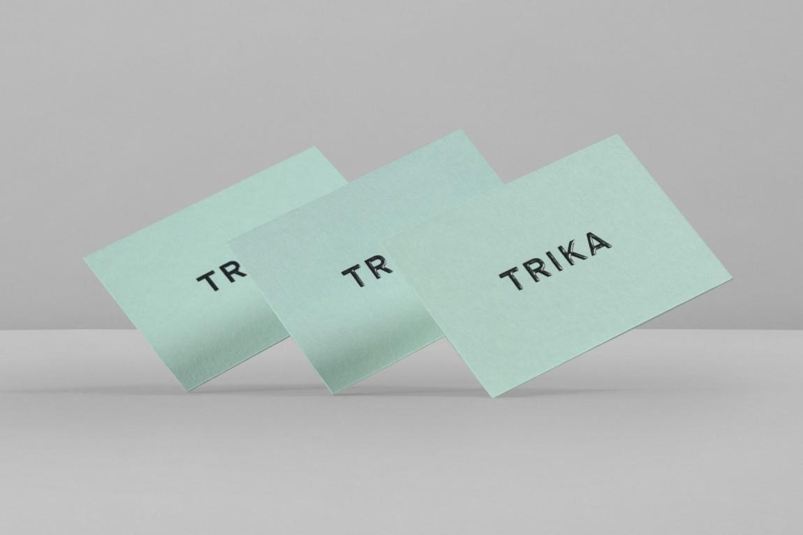 Trika室内设计公司品牌logo设计,名片设计