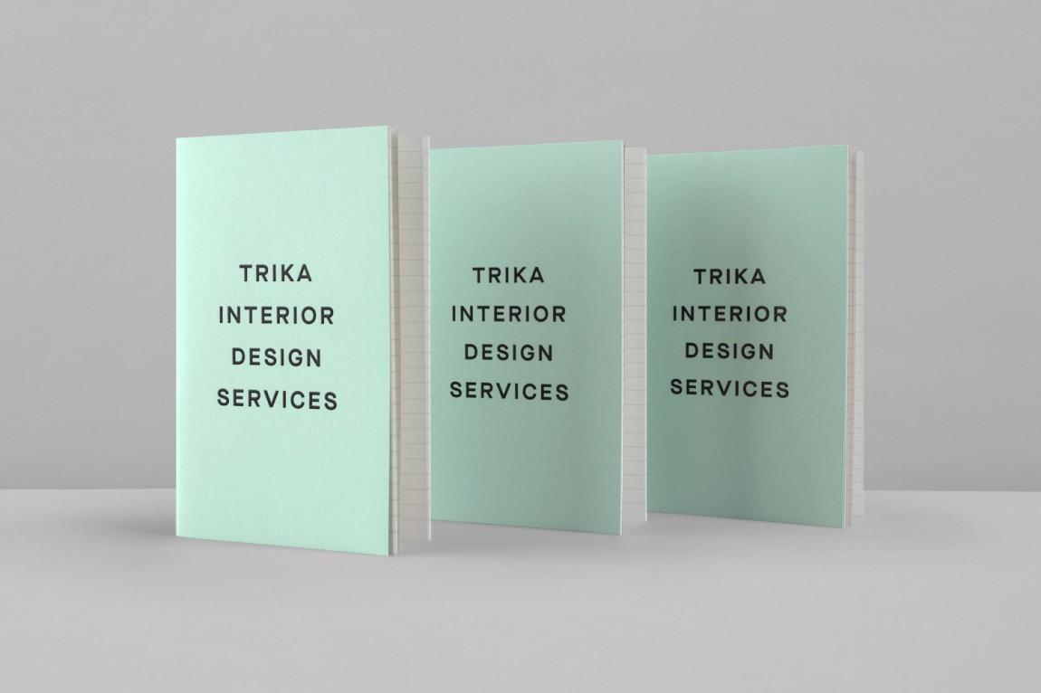 Trika室内设计公司品牌logo设计, 书籍设计