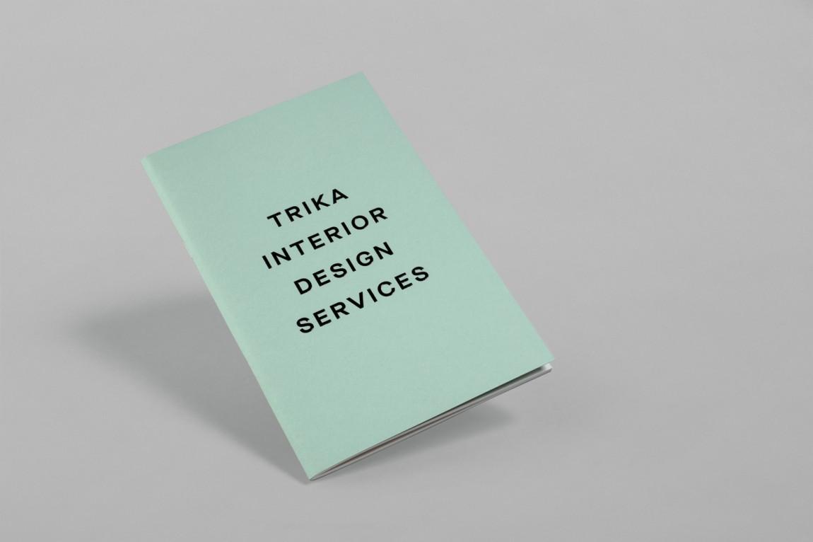 Trika室内设计公司品牌logo设计,文字设计