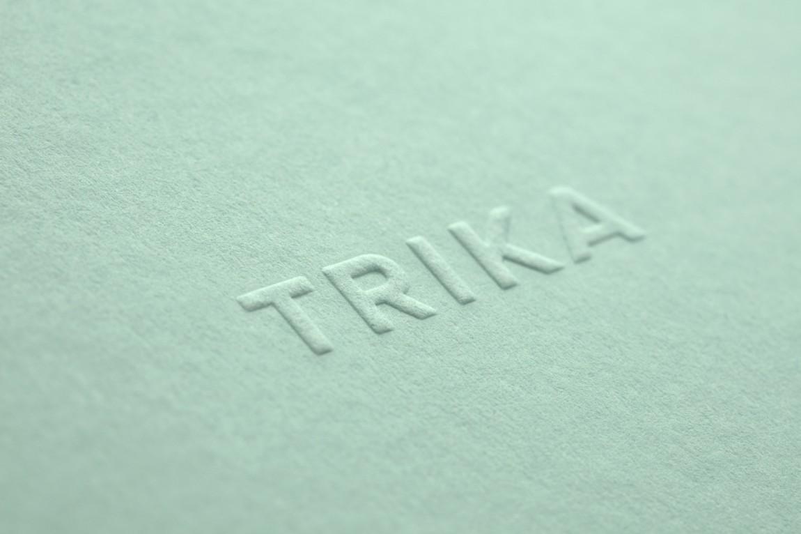 Trika室内设计公司品牌logo设计, 特殊工艺logo设计