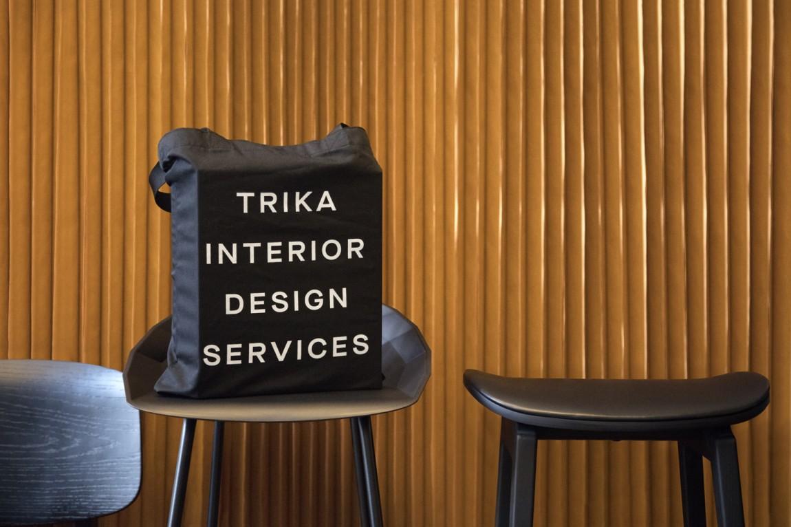 Trika室内设计公司品牌logo设计,手提袋设计