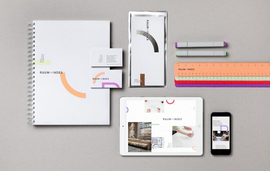 Raumindex零售空间设计公司品牌形象设计,VI设计