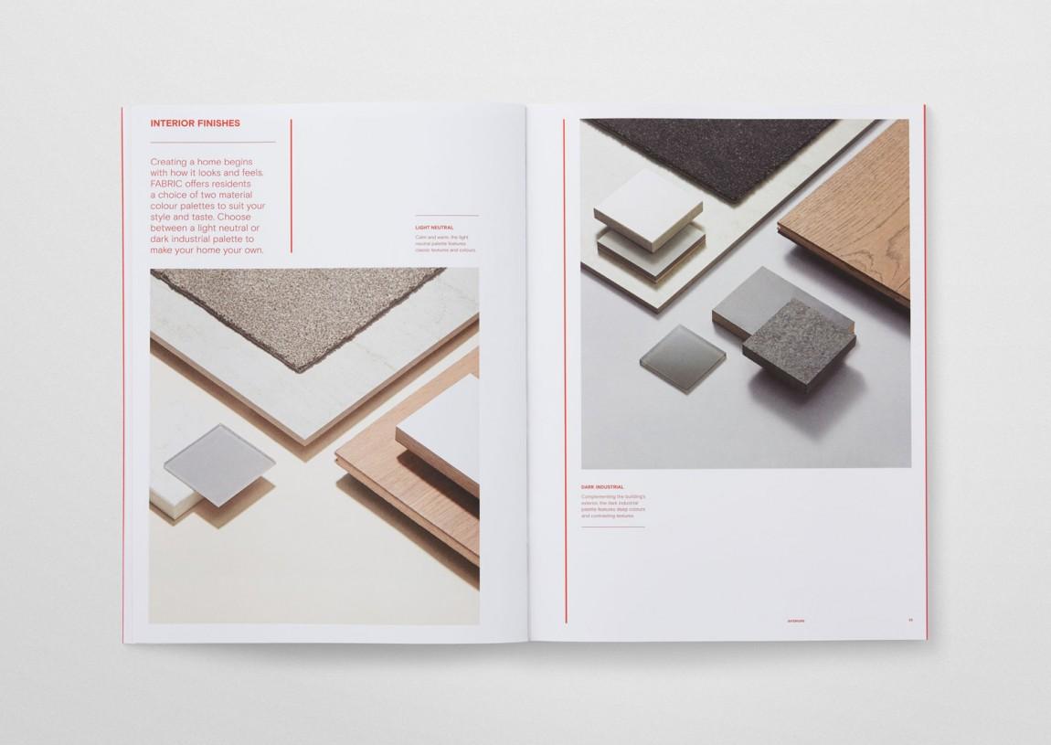 住宅公寓Fabric地产企业形象设计, vis手册设计
