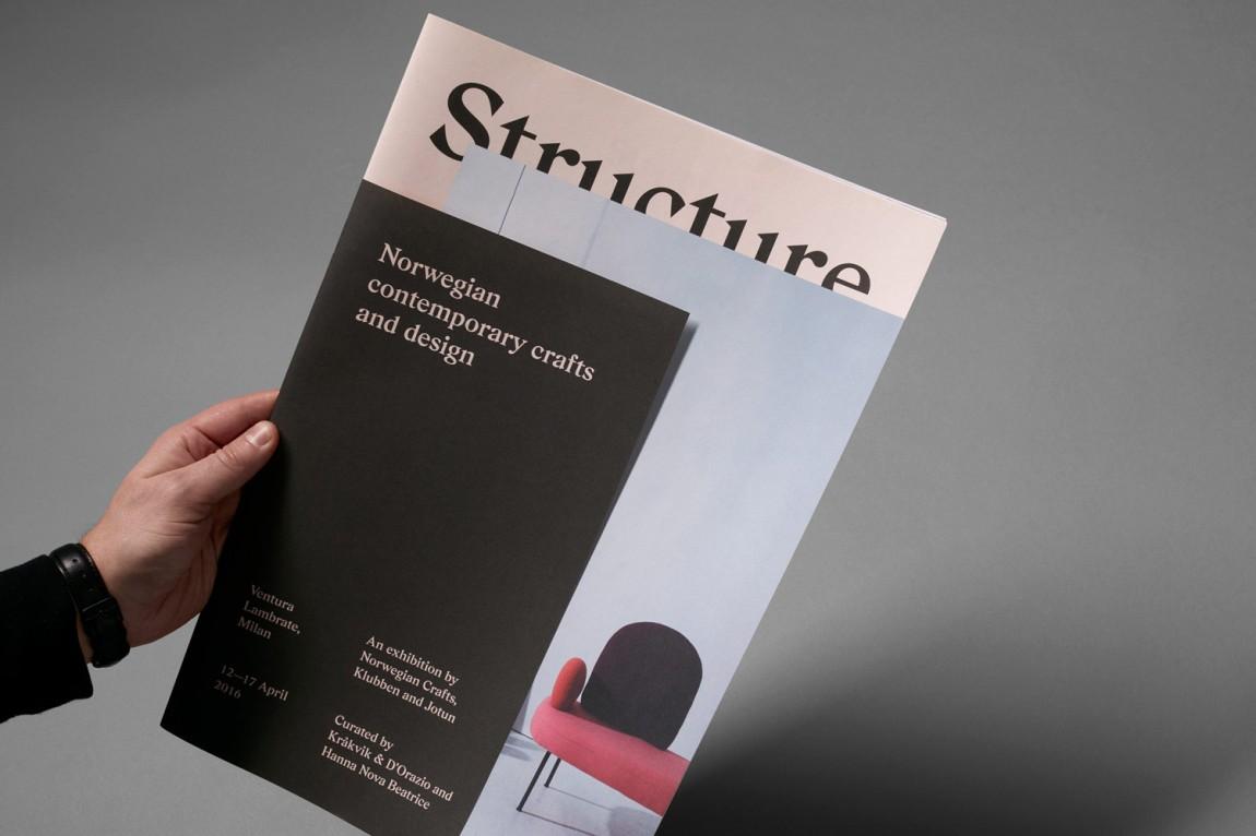挪威当代工艺与设计展vi形象设计