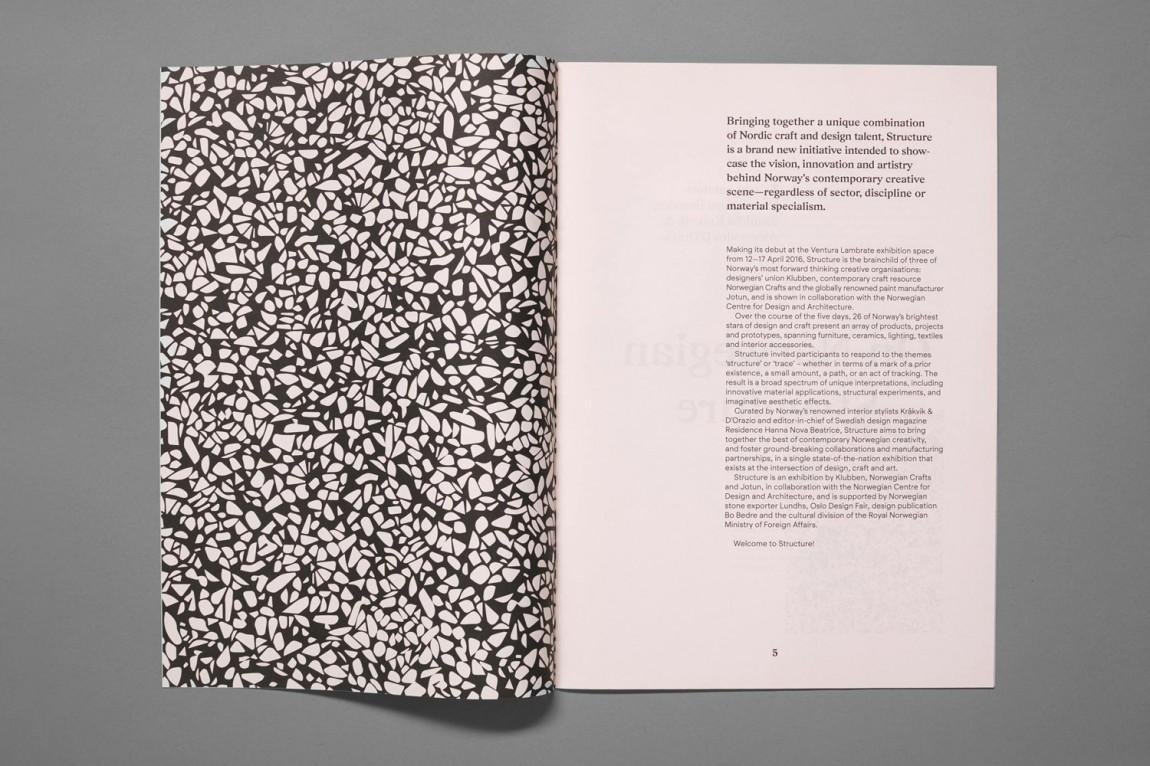 挪威当代工艺与设计展vi形象设计, 宣传册设计