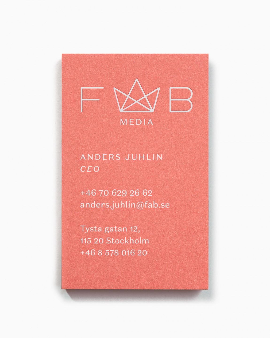Fab Media瑞典媒体公司品牌升级改造,名片设计