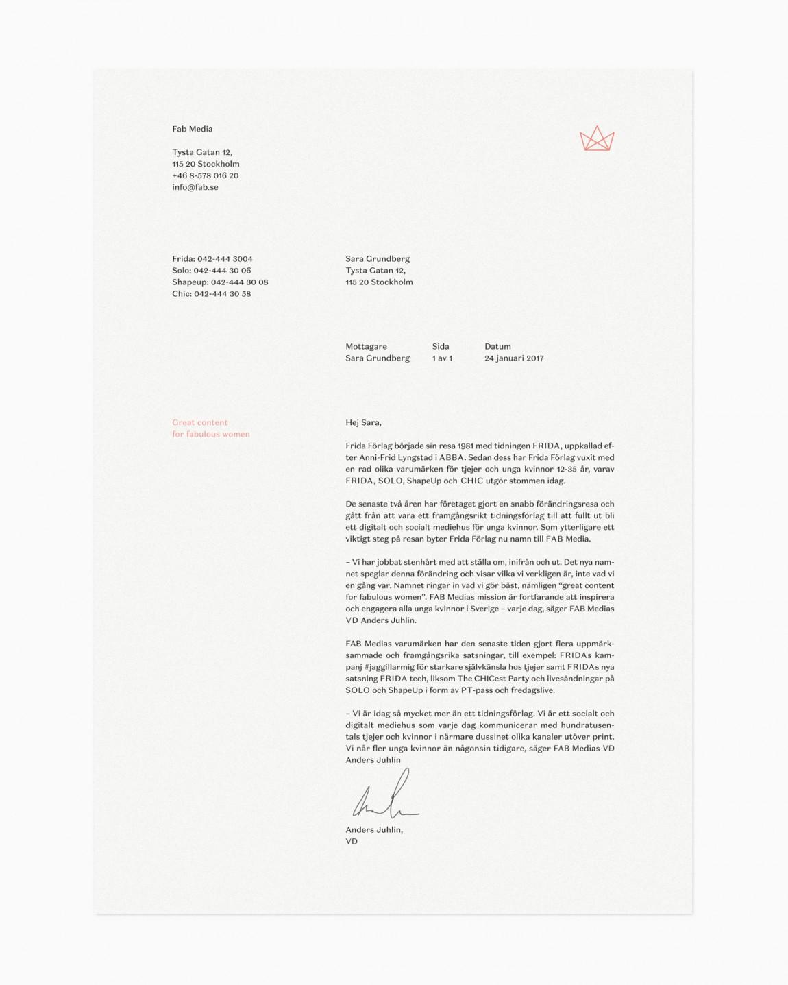 Fab Media瑞典媒体公司品牌升级改造,信封设计