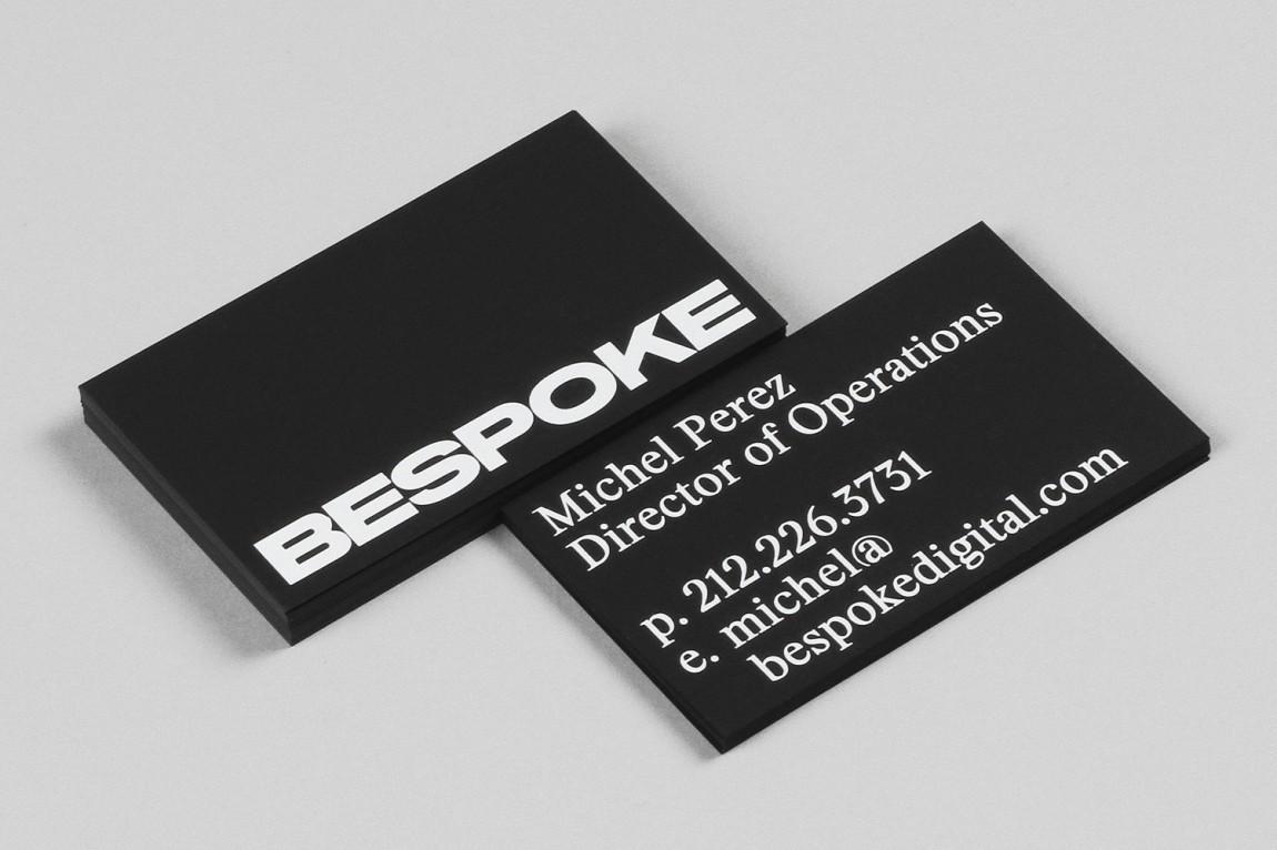 Bespoke数码润饰公司视觉传达设计,名片设计