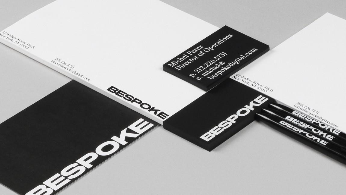 Bespoke数码润饰公司视觉传达设计,办公应用设计