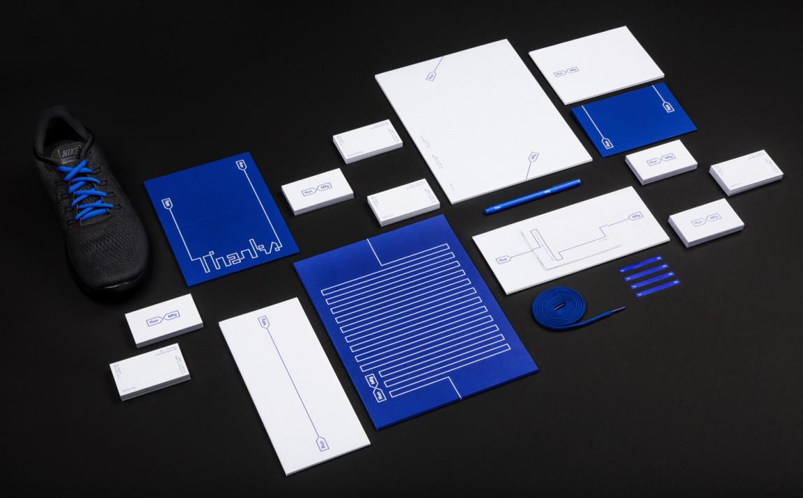 Run Mfg体育赛事设计制作公司品牌标识设计,办公应用设计