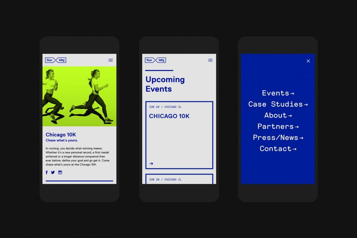 Run Mfg体育赛事设计制作公司品牌标识设计,手机网站设计