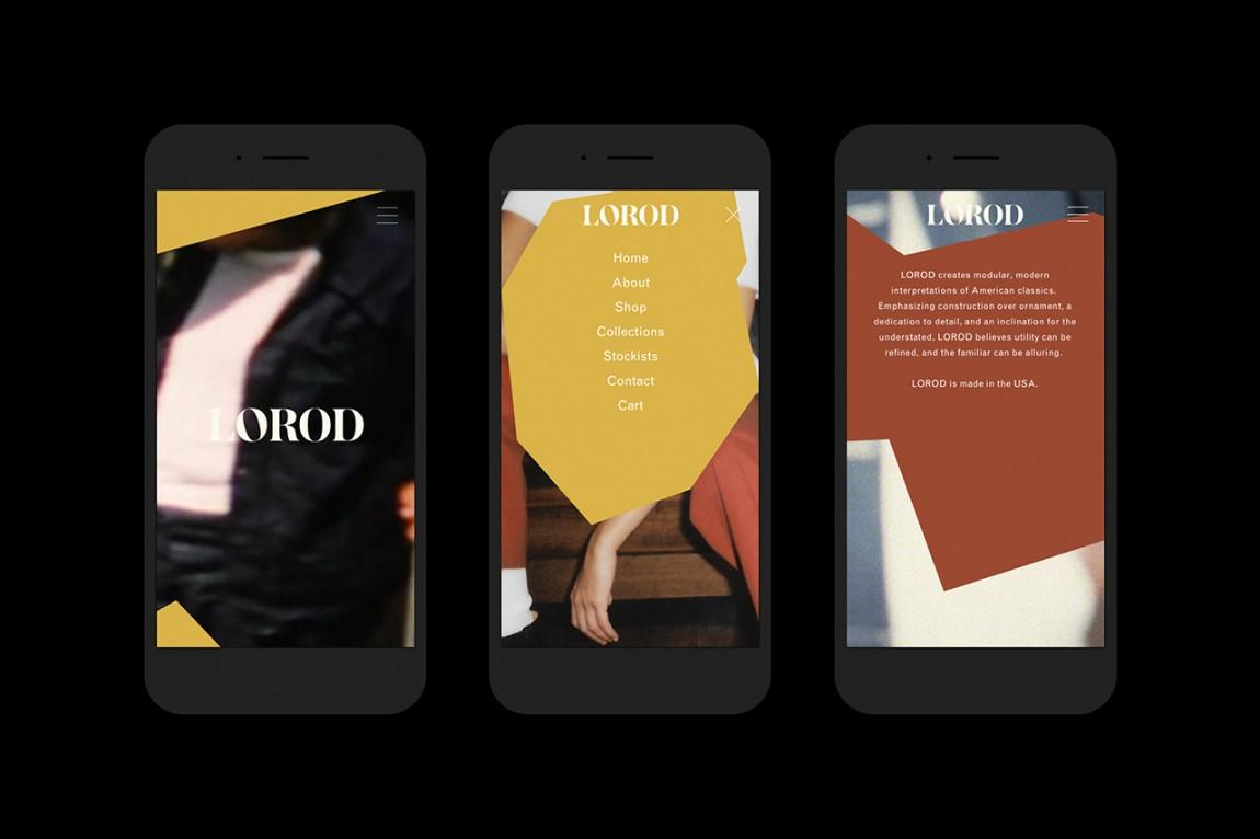 美国时尚服饰品牌Lorod服装品牌设计,手机网站设计
