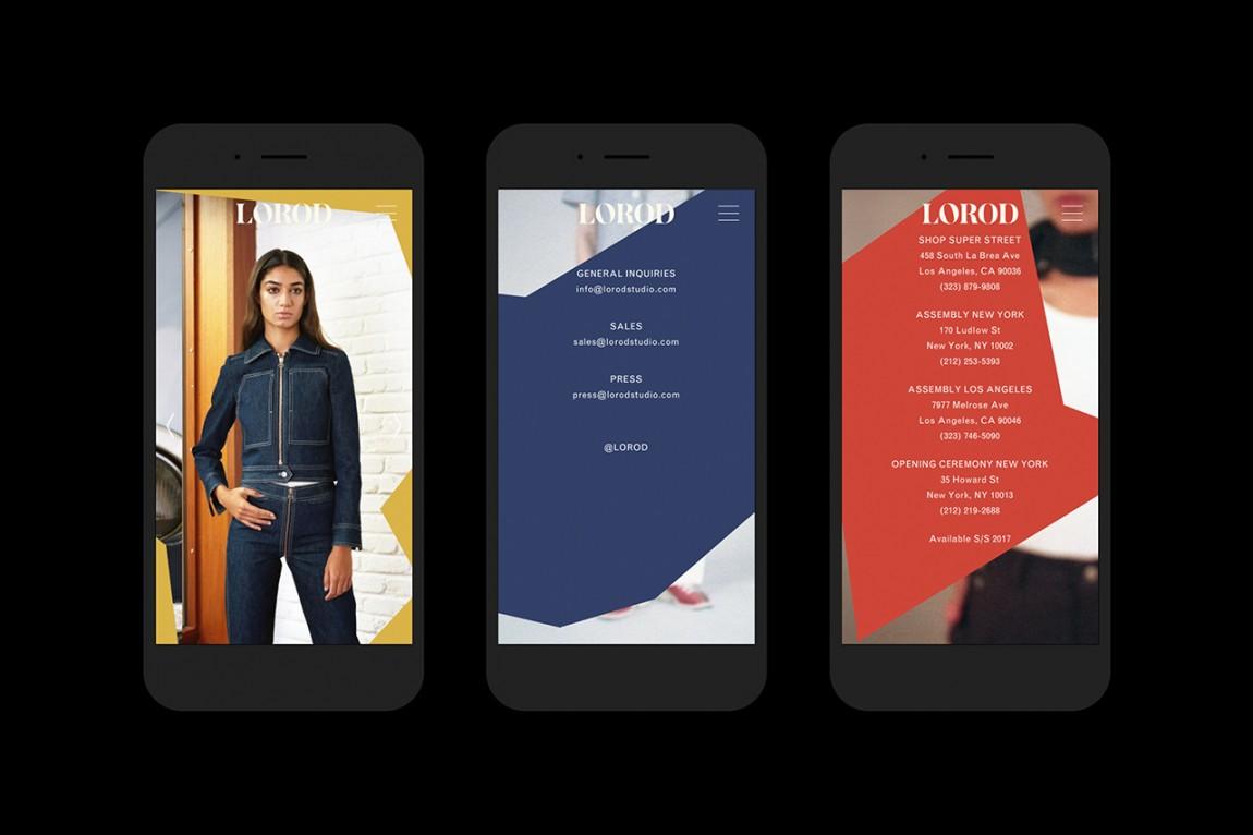 美国时尚服饰品牌Lorod服装品牌设计,品牌网站设计