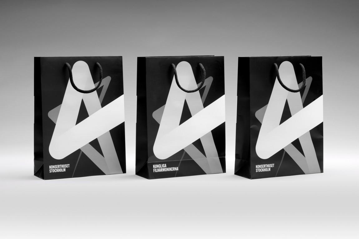 Konserthuset文化传播机构品牌形象塑造,手提袋设计