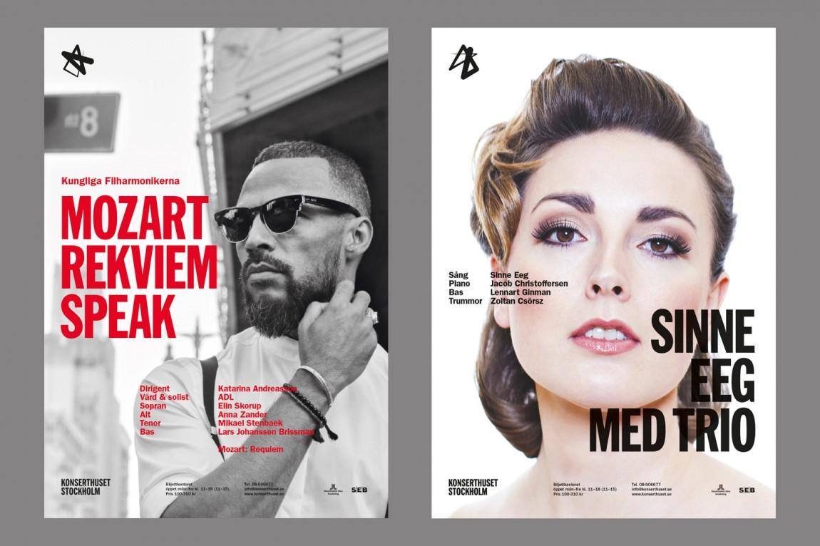 Konserthuset文化传播机构品牌形象塑造,海报设计