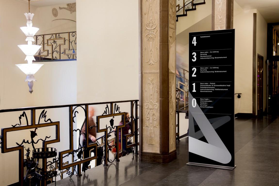 Konserthuset文化传播机构品牌形象塑造,导视设计