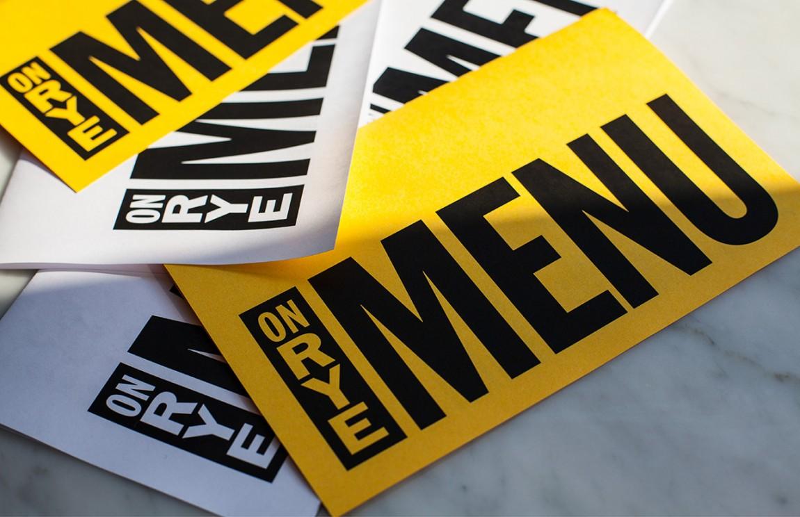 快餐连锁企业On Rye餐饮品牌全案设计,市场推广设计