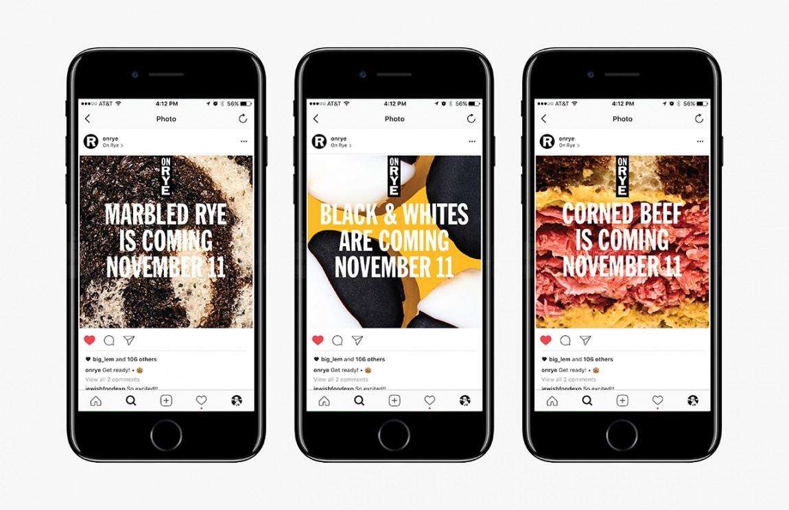 快餐连锁企业On Rye餐饮品牌全案设计,手机网站设计