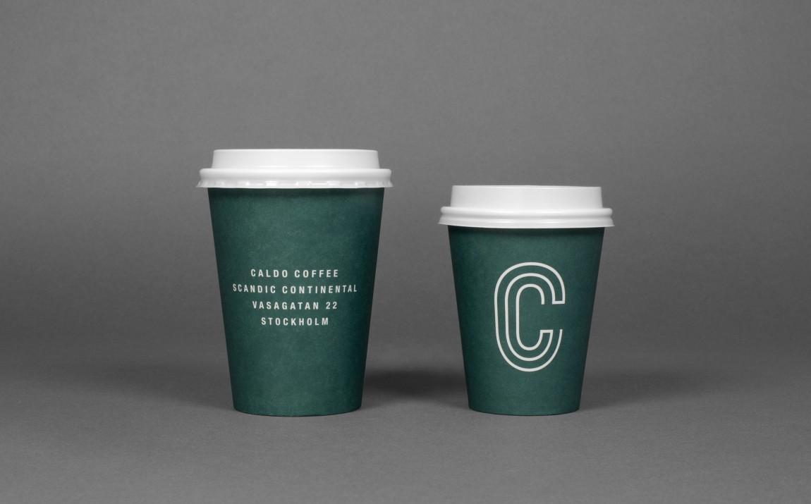 轻食咖啡馆Caldo连锁品牌标志logo设计,咖啡杯设计