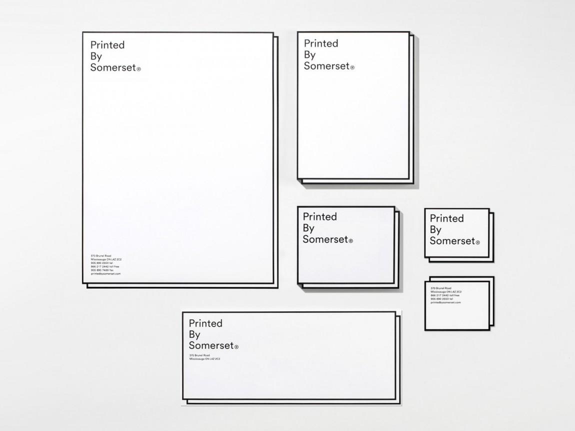 Somerset印刷公司品牌形象vi设计, 办公应用设计