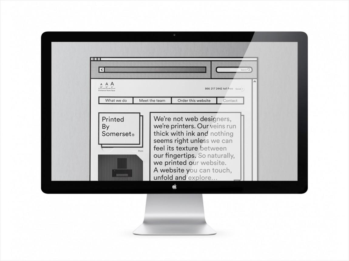 Somerset印刷公司品牌形象vi设计,网站设计