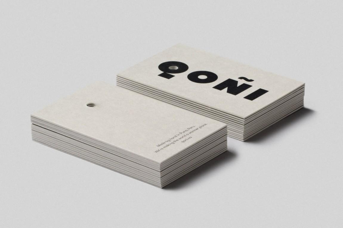 手工工匠服饰Qoni品牌形象设计赏析,名片设计