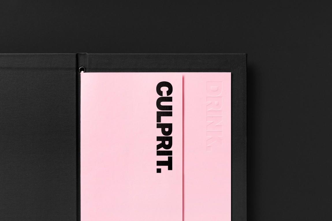 Culprit酒吧西餐厅品牌形象设计(VI设计)
