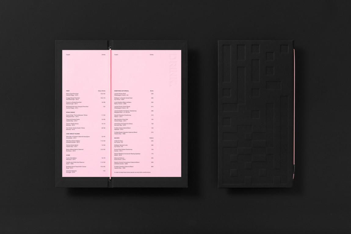 Culprit酒吧西餐厅品牌形象设计(VI设计), 菜单设计