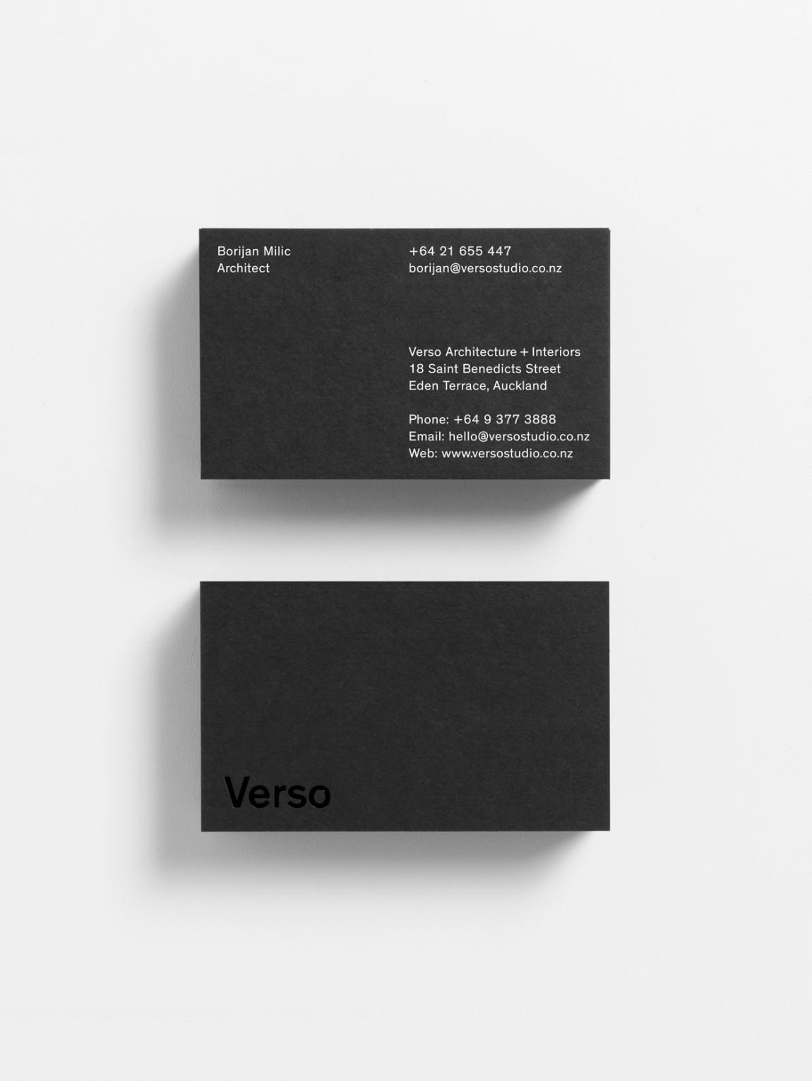 Verso建筑空间设计公司企业形象VI设计,名牌设计
