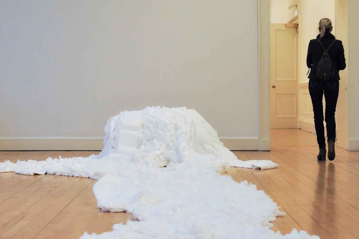 雕塑作品展视觉传达设计,展馆设计