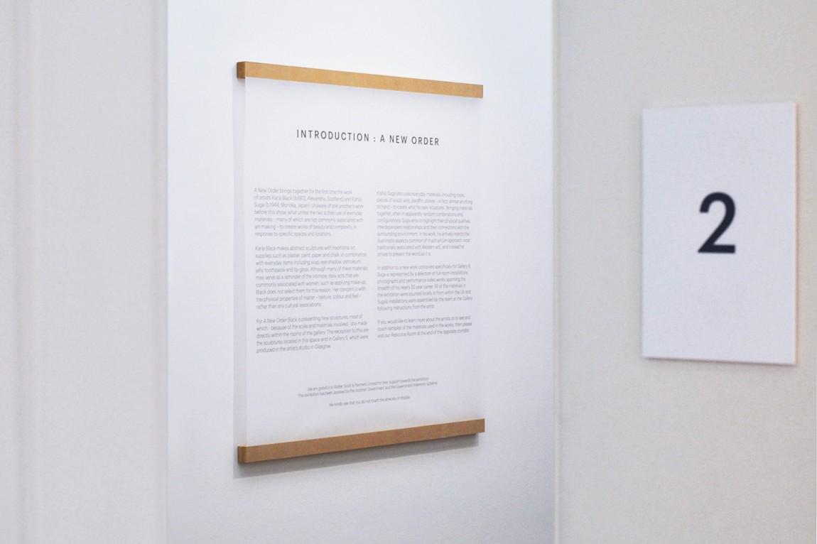 雕塑作品展视觉传达设计,导视设计