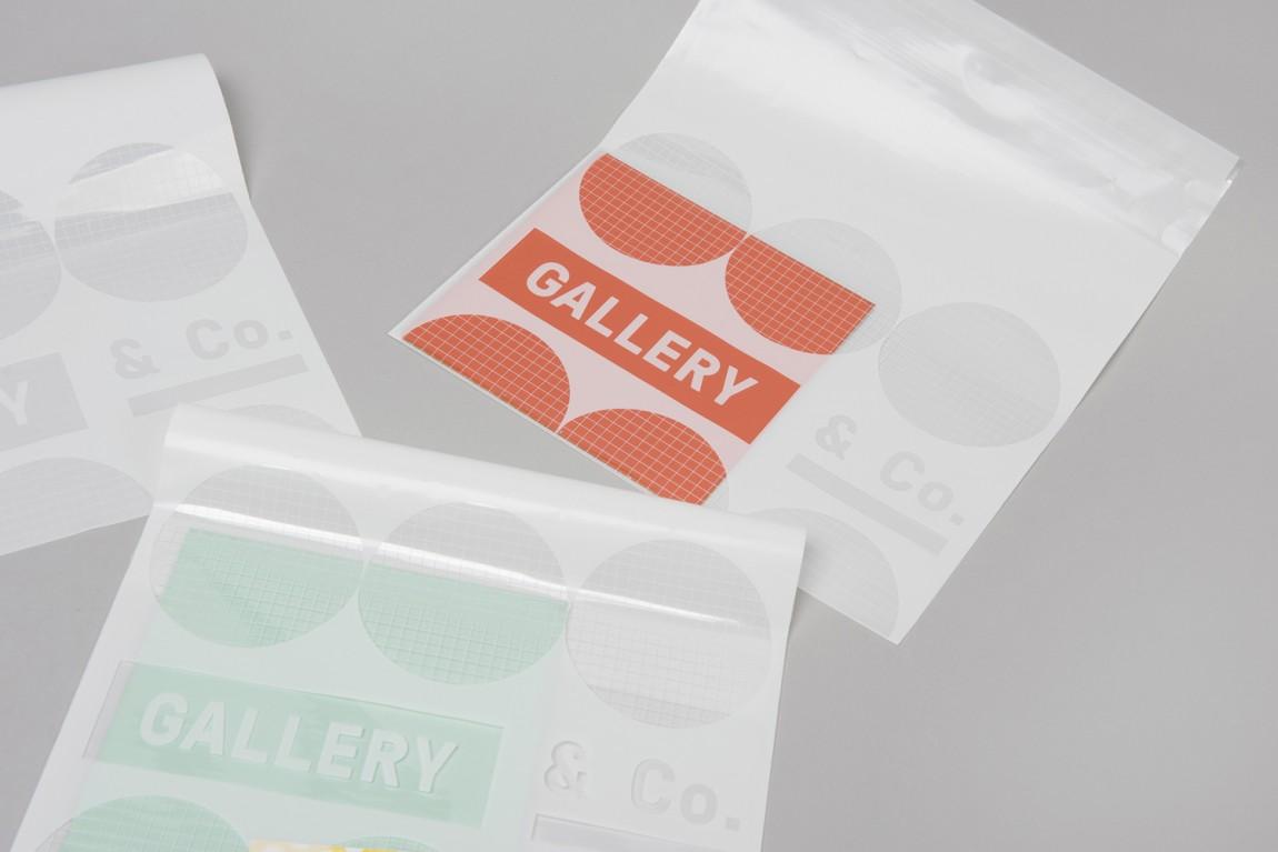 新加坡国家美术馆食品饮料零售商和咖啡馆品牌VI设计,塑料袋设计