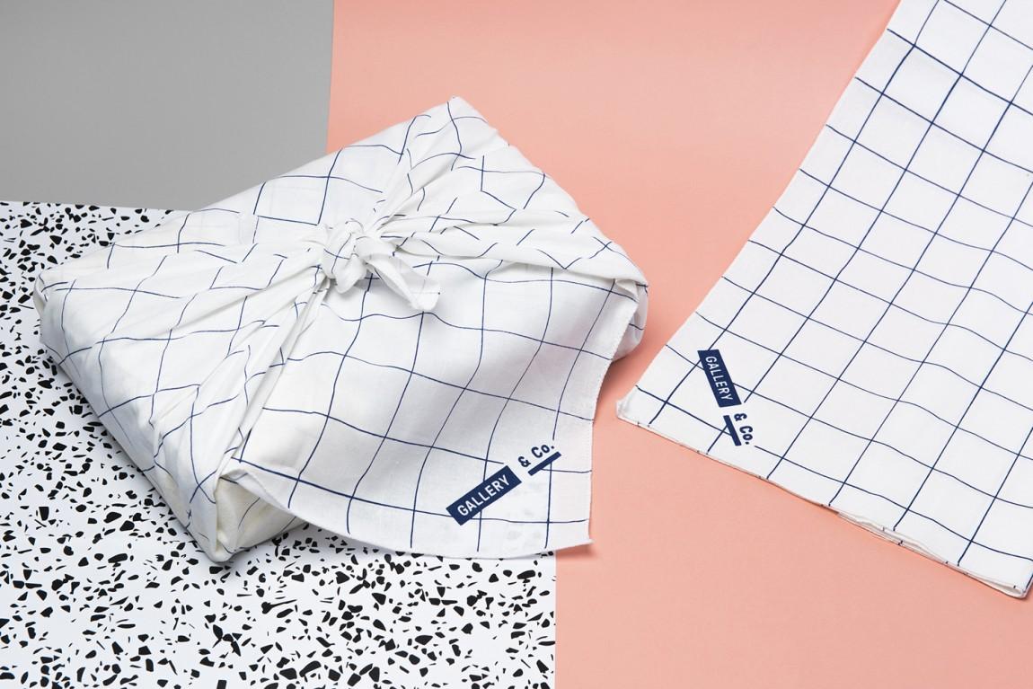 新加坡国家美术馆食品饮料零售商和咖啡馆品牌VI设计,包装纸设计