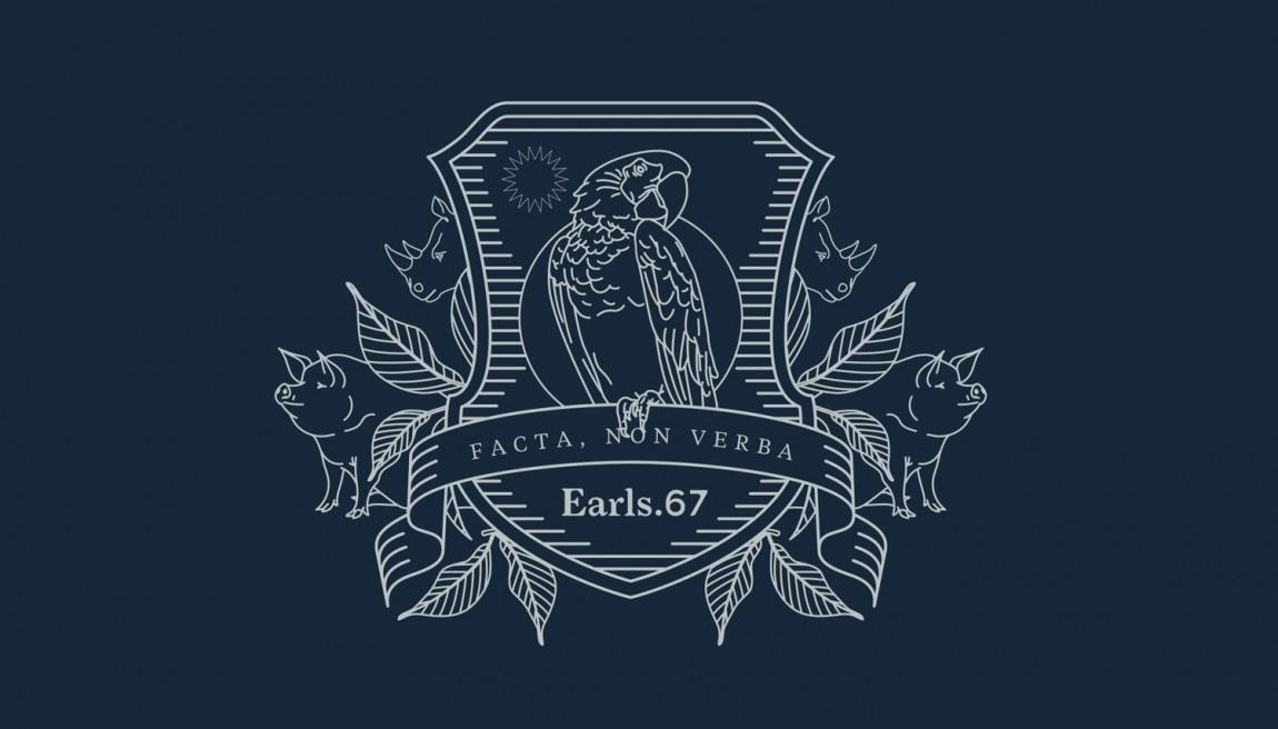 Earls.67酒吧餐饮VI设计,图形logo设计