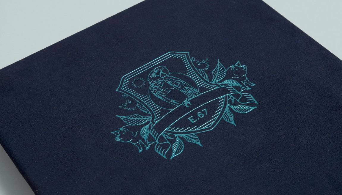 Earls.67酒吧餐饮VI设计,印刷工艺