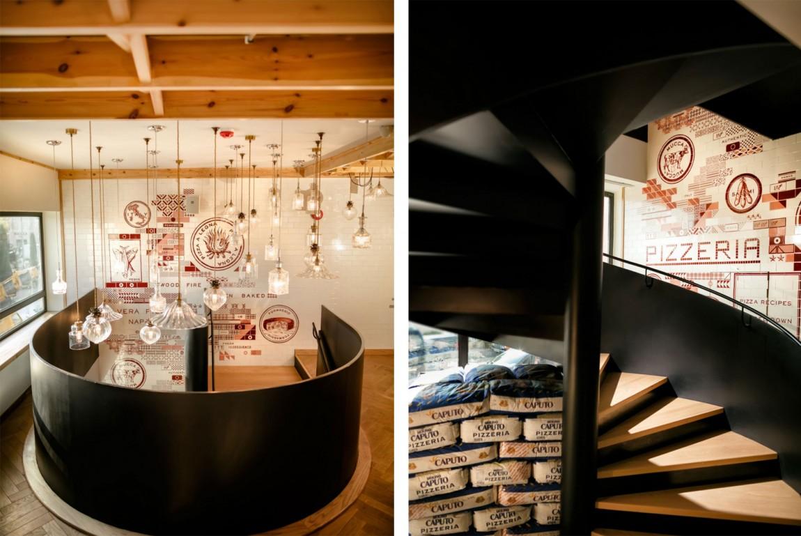 Little Italy意大利餐厅VI设计,楼梯设计
