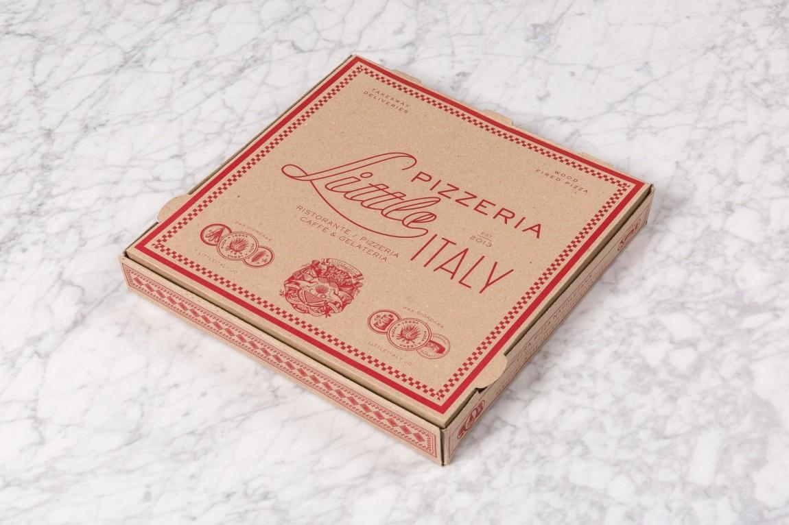 Little Italy意大利餐厅VI设计,包装盒设计