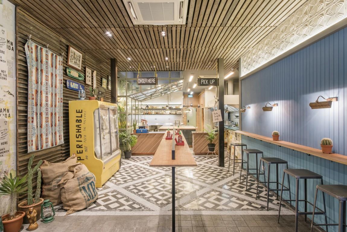 美式乡村自然复古熟食店PBD品牌形象VI设计,空间设计