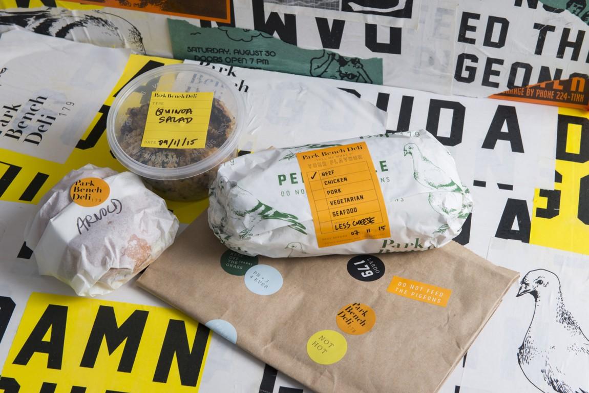 美式乡村自然复古熟食店PBD品牌形象VI设计,包装纸设计