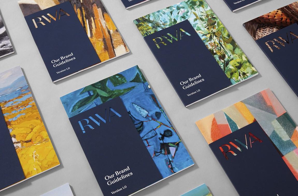 RWA艺术画廊Logo创意设计,vi形象设计,宣传册设计