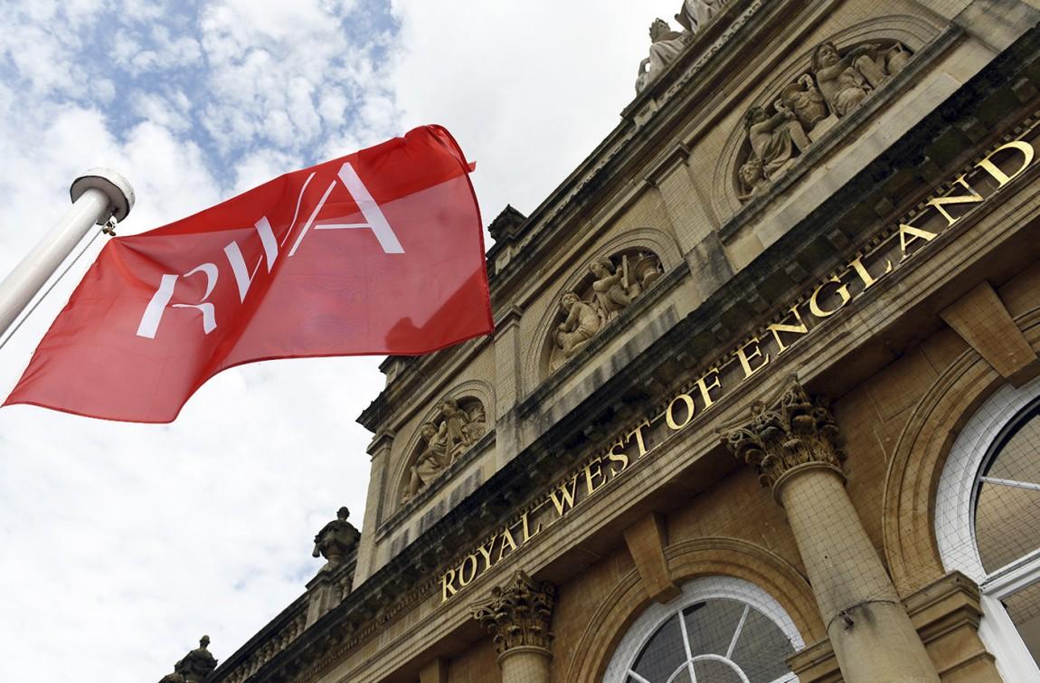 RWA艺术画廊Logo创意设计,vi形象设计,旗帜设计
