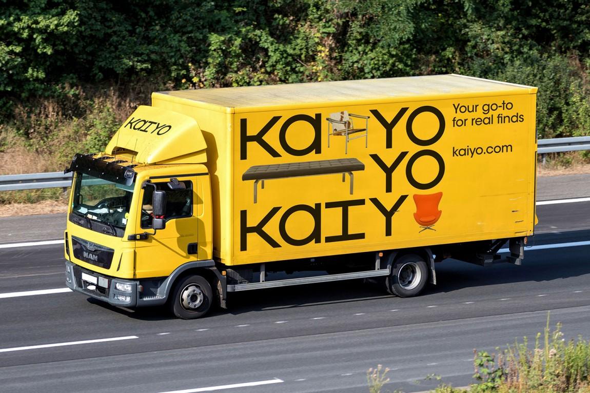 二手家具在线销售平台Kaiyo电商vi形象设计,车体外观设计