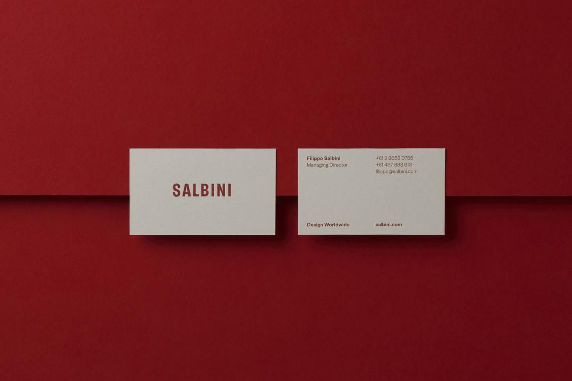 欧洲高档家具和电器在线零售商Salbini品牌设计,名片设计