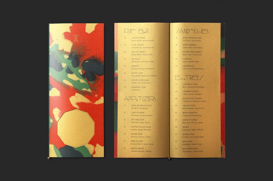 高线酒店黄金时间户外餐厅VI设计,画册设计